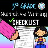Narrative Writing Checklist: 3rd grade standards-aligned - PDF and digital!!