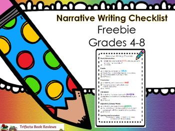 Narrative Writing Checklist Grades 4-8 ~ Freebie!