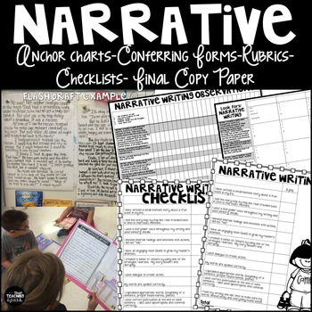 Narrative Writing Checklist, Rubric, Conference Forms, Anchor Charts