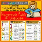 Narrative Writing - Editing Checklist and Rubric for Kindergarten