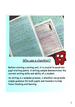 Narrative Writing Checklists - middle school or less confident older writers