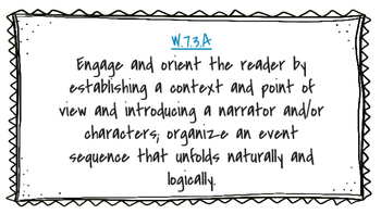 Narrative Writing Clipchart