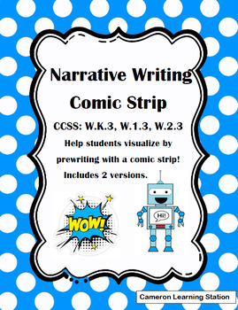 Narrative Writing Comic Strip Template