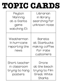 Narrative Writing Common Core Aligned Stations