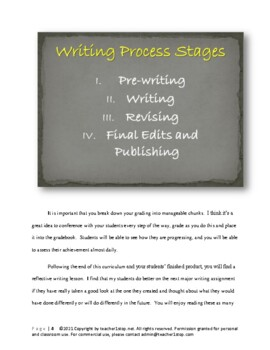 Narrative Writing Complete Instructional Curriculum Gr 6-12