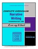 Narrative Writing Complete Instructional Curriculum Gr 6-12