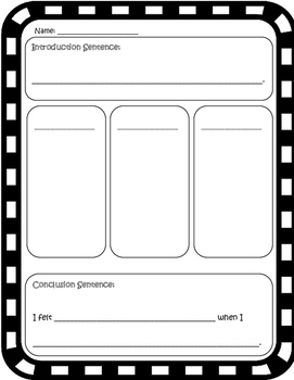 Narrative Writing - Creative Writing - Writing  - Graphic Organizer