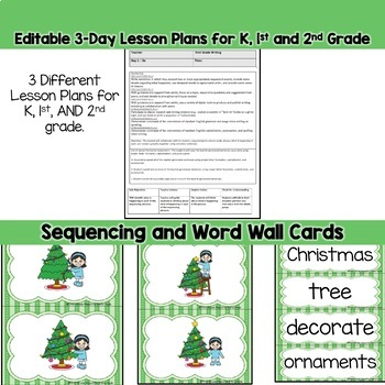 Christmas Tree Writing