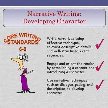 Narrative Writing - Developing Character