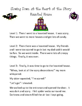 Haunted House Narrative Writing Worksheets & Teaching