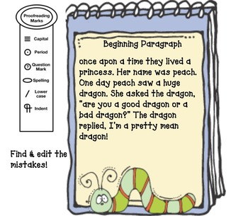 Narrative Writing: Editing Practice