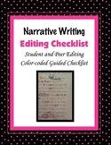 Narrative Writing Editing Student Checklist