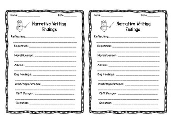 Narrative Writing Endings