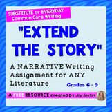 "Narrative Writing ""Extend the Story"" – For Substitute or E"