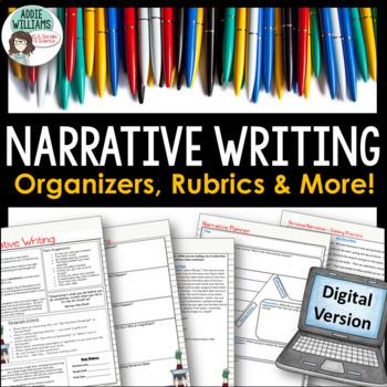Narrative Writing -  GOOGLE DRIVE - Organizers, Examples,
