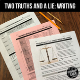 """Narrative Writing Game for Teens: """"Two Truths and a Lie"""""""