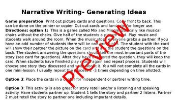 Narrative Writing- Generating Ideas
