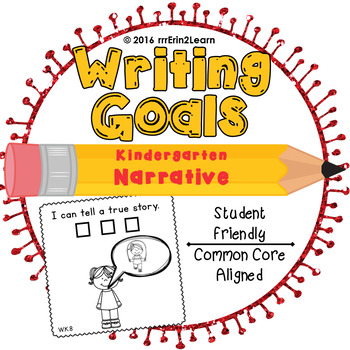 Narrative Writing Goals Kindergarten