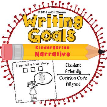 Narrative Writing Goals Kindergarten