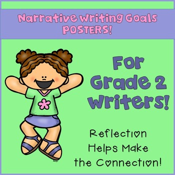 Goal Setting MINI POSTERS for Grade 2 Writers! Narrative Writing!