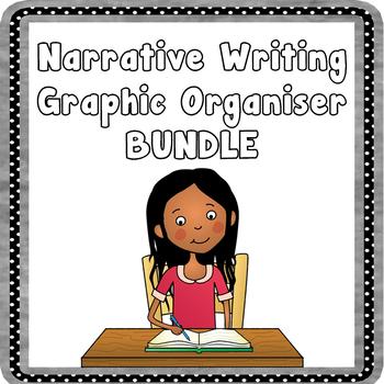 Narrative Writing Graphic Organizer Bundle - Writing Planners