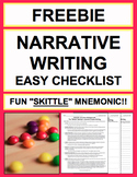 Narrative Writing Graphic Organizer Creative Writing Checklist & Rubric FREE