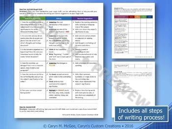 Narrative Writing - Graphic Organizer and Rubric