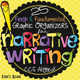 Distance Learning Writing | Narrative Writing Graphic Organizers | + GOOGLE