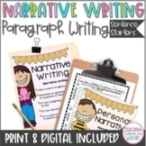 Personal Narrative Writing, Transition Words, Sentence Starters, Thanksgiving
