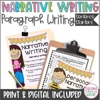 Personal Narrative Writing Worksheets & Teaching Resources | TpT