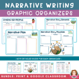 Narrative Writing Graphic Organizers | Print PDF  & Google