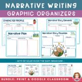Narrative Writing Graphic Organizers | Print PDF  & Google