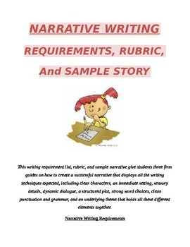 Narrative Guide includes requirements, rubric, and sample personal narrative