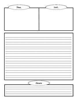 Narrative Writing Homework Template / Graphic Organizer