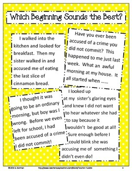 Narrative Writing - I didn't do it!