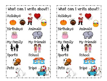 Narrative Writing Ideas for Writer's Workshop