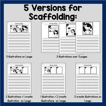 Narrative Writing {Illustrated} Prompts | Kindergarten & First Grade