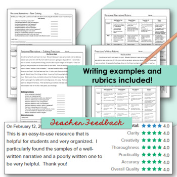 Narrative Writing Graphic Organizers Examples Rubrics And More