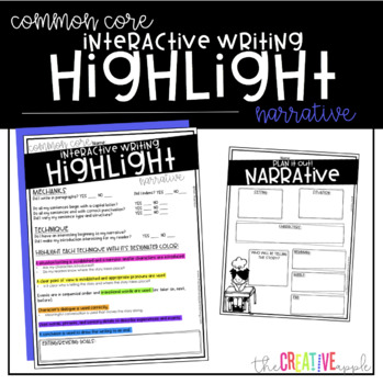 Narrative Writing Interactive Highlight