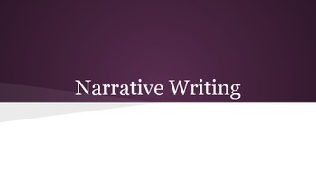 Narrative Writing Intro and Activity