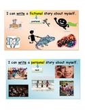 Narrative Writing Learning Target for First Grade