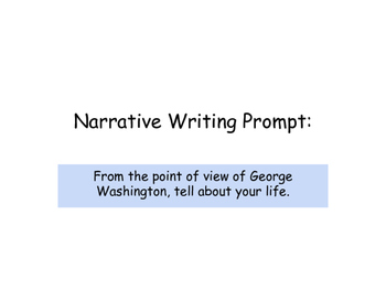 Narrative Writing Lesson- POV