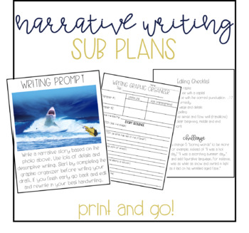 Narrative Writing Lesson Sub Plans