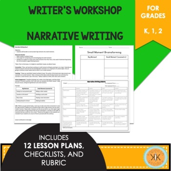 Writer's Workshop Narrative Writing - Lucy Calkins Inspired
