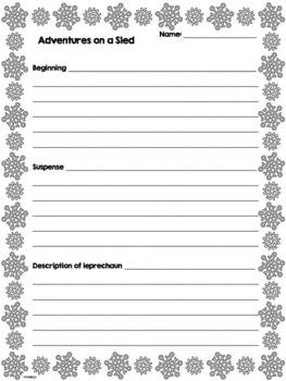 Magical Sled Narrative Writing Winter