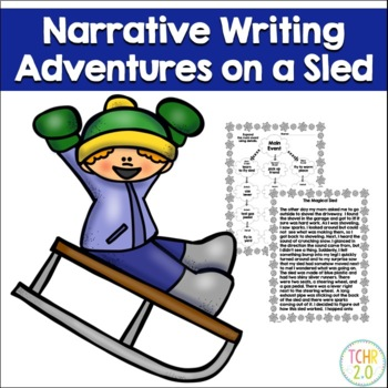 Magical Sled Narrative Writing Winter