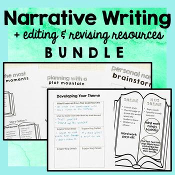 Narrative Writing Unit PLUS Editing and Revising Bundle