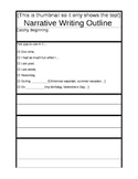 Narrative Writing OUTLINE! Yippee!!