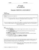 Narrative Writing On Demand Writing Assessment