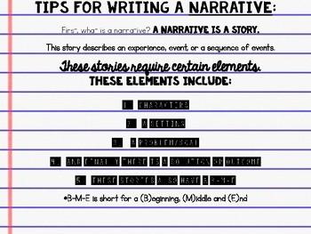Narrative Writing Organization